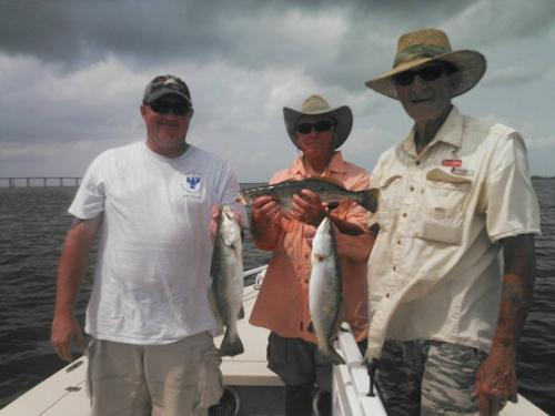 Trout Action on Sabine Lake